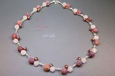 Achat - ♥ No.82 ♥ Kette - 925 Silber, Achat, Bergkristall - ein Designerstück von glashuepfer bei DaWanda