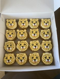 Cheetah Cupcakes, Cheetah Birthday Cakes, Animal Cupcakes, Lion Birthday Party, First Birthday Parties, 7th Birthday, Cheetah Decorations, Jungle Cupcakes, Cheetah Party