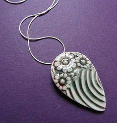 Floral Teardrop Porcelain Necklace | Flickr - Photo Sharing!
