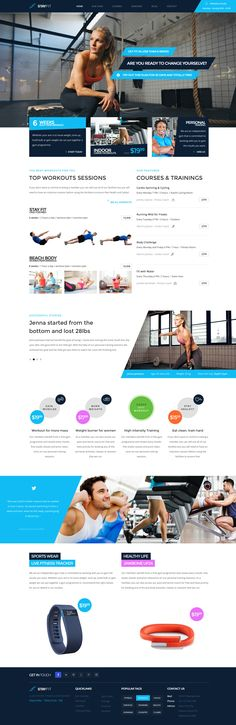 Stayfit - Fitness PSD Template   ThemeForest