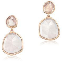 MONICA VINADER Siren Drop Earrings ($438) ❤ liked on Polyvore featuring jewelry, earrings, drop earrings, monica vinader, glitter earrings, rose earrings and glitter jewelry