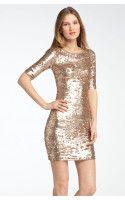 BCBGMAXAZRIA Sequin Dress - Lyst