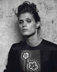 Malgosia Bela in Prada by Peter Lindbergh for Vogue Paris
