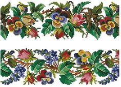 Roses pansies and wistaria borders antique digital by Smilylana