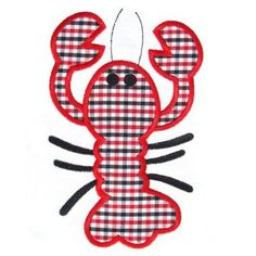 Crawfish Applique Embroidery Design – Embroidery Boutique
