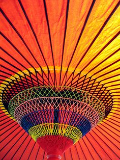 Colorful Japanese Umbrella by jasohill, via Flickr