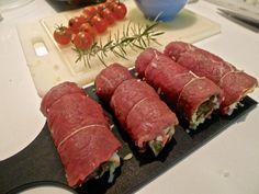 Fleischvögel / Rindsrouladen Sausage, Beef, Baking, Ethnic Recipes, Foodies, Grandma's Recipes, Essen, Meat, Sausages