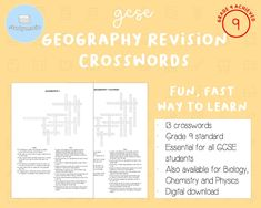 GCSE Geography Revision Crosswords | Etsy