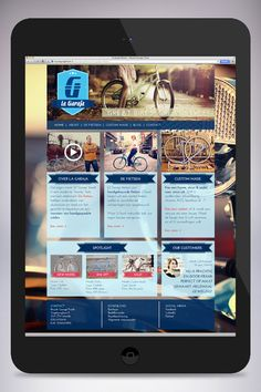 Web design for La Garaje, custom build bikes. Created by: http://www.rotterdam-vormgeving.nl