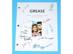 Grease 1978 Movie Script Autographed: John Travolta, Olivia Newton-John, Stockard Channing, Jeff Conaway, Jamie Donnelly, Didi Conn