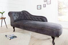Krásna šedá leňoška do Vašej obývačky. #lenoska #lezadlo #lezat #obyvacka #spalna Chesterfield, Sofa Design, Vintage Home Decor, Vintage Furniture, Sofa Chair, Couch, Interior Decorating, Interior Design, Country Decor