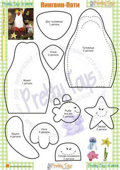 penguins felt penguin - stuffed toy pattern sewing handmade craft idea template inspiration felt fabric DIY project children Christmas DIY ornament