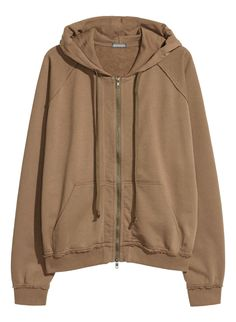 cdd8ac83e0 Oversized sweatshirt jacket with a double-layered drawstring hood. Zip at  front