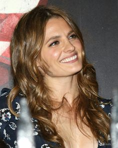 Stana outside Westside Theater NYC greeting fans September 26, 2016 following White Rabbit Red Rabbit