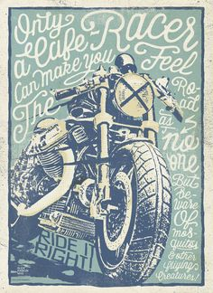 Cafe Racers Poster for a Constructors Exhibition. Alex Ramon Mas designs. www.alexramonmas.com