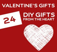 So many great DIY Valentine's Day gift ideas! You need to check this out if you want some ideas for unique, from the heart gifts you can make at home.