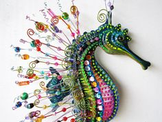 Seahorse art wall sculpture by artistJP on Etsy, $39.00