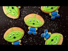 ▶ How To Decorate Toy Story Alien Cookies! Collaboration With Cakes By ChoppA - YouTube