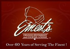 Ernest's Orleans Restaurant and Cocktail Lounge - Shreveport, LA. I grew up eating at the original. This is a real treat whenever I go back home!