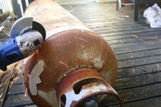 100 Lb Propane Tank Smoker Build : 10 Steps (with Pictures) - Instructables Oven Diy, Diy Pizza Oven, Diy Grill, Custom Bbq Grills, Custom Bbq Smokers, Barrel Smoker, Bbq Pit Smoker, Diy Smoker, Pit Bbq