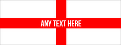PERSONALISED BAR RUNNER ST GEORGES FLAG IDEAL FOR HOME COCKTAIL PARTY PUB MAT