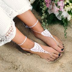 Barefoot Sandals  Crochet Sandals  Lace by ModernCrochetClub