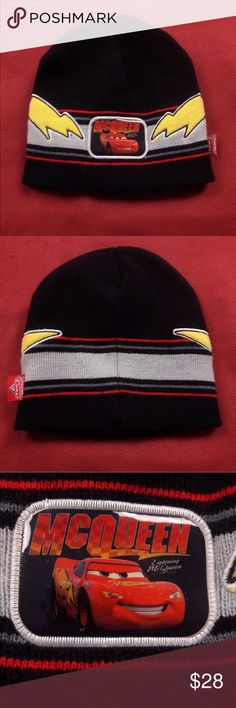 Cars Knit Beanie No Flaws!  One Size. Stretch Fit. Please, review pics. Contact me if you have questions. Smoke/Pet free home. Disney Accessories Hats