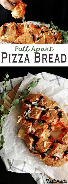 Pull apart pizza bread is the greatest invention since sliced pizza.