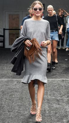 Trendy Bag Style for SS 15: Fringed Bags. Olivia Palermo Street Style during Spring Summer 2015 New York Fashion Week NYFW.