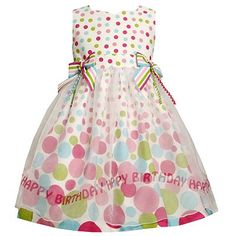 "Birthday Dress with ""Happy Birthday"" written on the skirt!"