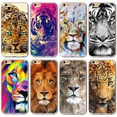 Hot! Silicon Soft TPU Cover Cases For Apple iPhone 6 6s Case 4.7 inch Cute Tiger Animals Protective Housing Wholesale/Retail