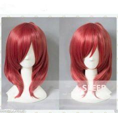 Nishikino Maki Short Dark Red Cosplay Wigs