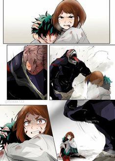 But.... can't she just float them away? Uraraka controls gravity, right? Anime Manga, Otaku, Boku No Hero Academia, Deku X Uraraka, Fan Art, Boko No, Super Powers, Anime Ships, My Hero