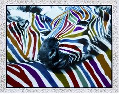 Original y colorido cuadro de animales salvajes, perfecto para dar un toque de naturaleza pura a tu hogar.