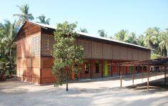 High School Thazin / Ackermann+Raff Architects: Ackermann+Raff Location: Ngwesaung, Republic of the Union of Myanmar Area: 500.0 sqm Year: 2014 Photographs: Julia Raff
