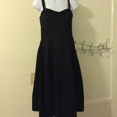 Calvin Klein dress - price drop Cute black dress.  Has fitted details at the top.  Zips up in the back.  Perfect for date night Calvin Klein Dresses Midi
