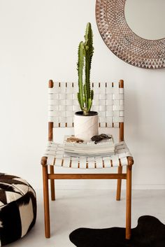 That is a cool woven chair Woven Chair, Decor, House Design, Interior Inspiration, Chair, Side Chairs, Interior, Home Decor, House Interior