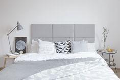 Jak ochronić ściany w domu? Modułowy zagłówek tapicerowany do każdego mieszkania. Modular upholstered headboard | Cleo-inspire | Cleo-inspire