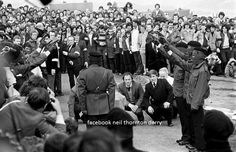 Final Salute of 1981 Hungerstriker Patsy O Hara, Patsy was laid to rest in the City Cemetery Derry City