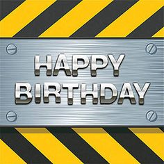 Have a heavy duty birthday party with Construction Zone Luncheon Napkins. These 2 ply paper napkins feature a border of yellow and black stripes.