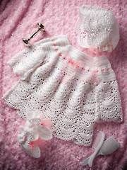 Crochet Baby & Kids Downloads - Mother of Pearl Christening Set