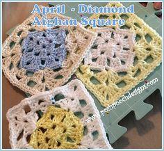 Ravelry: April Diamond Square pattern by Sara Sach
