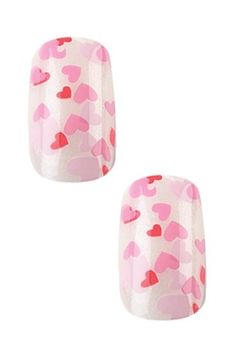 x2 Sets of Cala Professional Dazzling Designer 'Small Pink Hearts' - 87-967   A-Viva Pink Nail File * Click on the image for additional details.