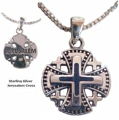 Ornate Jerusalem Cross & Blue Lapis Necklace   Light a Candle and Pray to Jesus