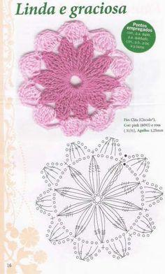Watch The Video Splendid Crochet a Puff Flower Ideas. Phenomenal Crochet a Puff Flower Ideas. Crochet Circles, Crochet Motifs, Crochet Flower Patterns, Crochet Mandala, Crochet Diagram, Crochet Stitches Patterns, Crochet Chart, Crochet Squares, Crochet Designs