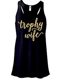 New Zoey's Attic Trophy Wife Glitter Tank Top Bride to Be-Black online. Find the perfect New York