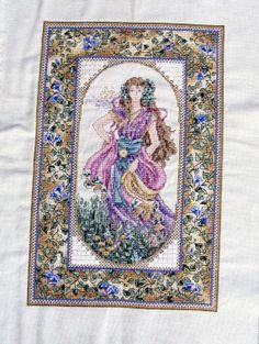Teresa Wentzler - Day Angel Cross Stitch, Finished Cross Stitch