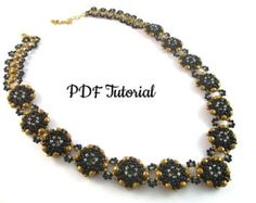 Beading Tutorial PDF Necklace Pattern Beadweaving by AdivaJewels