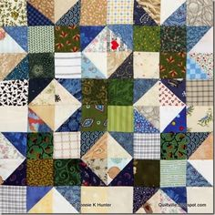 HST pillows for grand illusion. Scrap Crystals by Bonnie Hunter for Quiltmaker's 100 Blocks Volume 8 Star Quilt Blocks, Star Quilts, Scrappy Quilts, Quilt Block Patterns, Mini Quilts, Baby Quilts, Bonnie Hunter, Half Square Triangle Quilts, Square Quilt