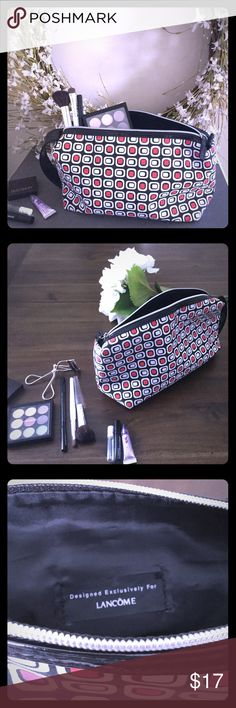"""Lancôme Cosmetic Pouch 11"""" length, 4 1/2"""" width, 6"""" height, designed exclusively for Lancôme.  Gently used with no tags.  Very durable and long lasting quality material. Lancome Accessories"""